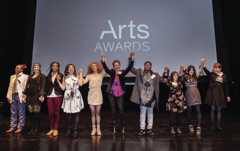 The 3Arts Award is given annually to Chicago women artists, artists of color and artists with disabilities. Adjunct Professor Tosha Alston (far left) is a 2018 recipent.