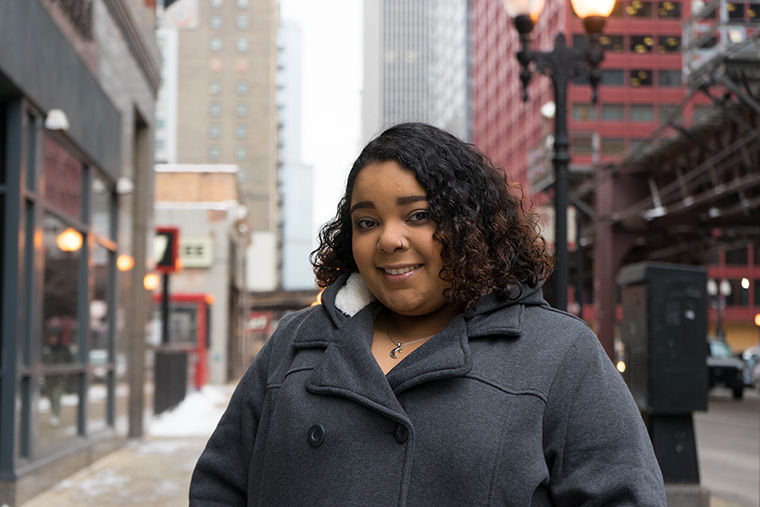 Jazmine Marie Cruz, student at Roosevelt University, is the organizer for the Young Women's March 2019.
