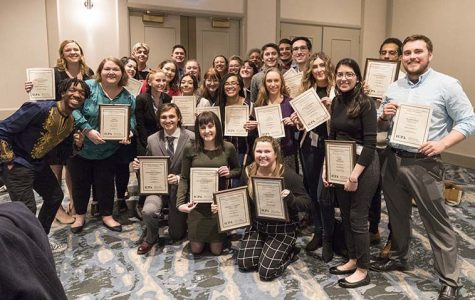 The Chronicle took home a total of 16 awards, including first place in General Excellence, during the annual Illinois College Press Association convention and award ceremony Feb. 15 and 16.