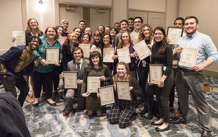 The+Chronicle+took+home+a+total+of+16+awards%2C+including+first+place+in+General+Excellence%2C+during+the+annual+Illinois+College+Press+Association+convention+and+award+ceremony+Feb.+15+and+16.%C2%A0