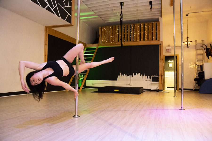 Carlton takes pole dance classes regularly at The Brass Ring, 2539 W. North Ave.