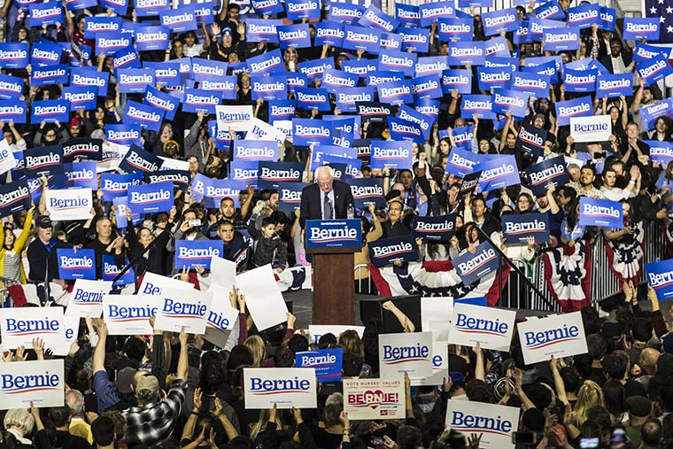 Sen. Bernie Sanders stressed dismantling social and racial inequality during a March 3 rally at Navy Pier, 600 E. Grand Ave.