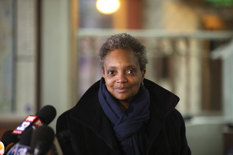 Chicago+mayoral+candidate+Lori+Lightfoot+enters+the+Thompson+Center+to+speak+with+media%2C+Wednesday%2C+Feb.+27%2C+2019%2C+in+Chicago.+%7C+Courtesy+of+Stacey+Wescott+