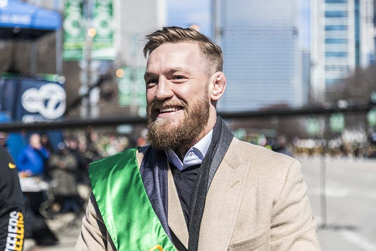 UFC+fighter+Conor+McGregor+joined+Mayor+Rahm+Emanuel+in+leading+the+2019+Chicago+St.+Patrick%27s+Day+Parade+downtown+on+March+16+as+performers+and+spectators+gathered+from+across+the+city.%C2%A0