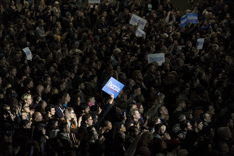 U.S.+Sen.+and+2020+presidential+candidate+Bernie+Sanders+holds+a+rally+at+Navy+Peir+on+March+3.
