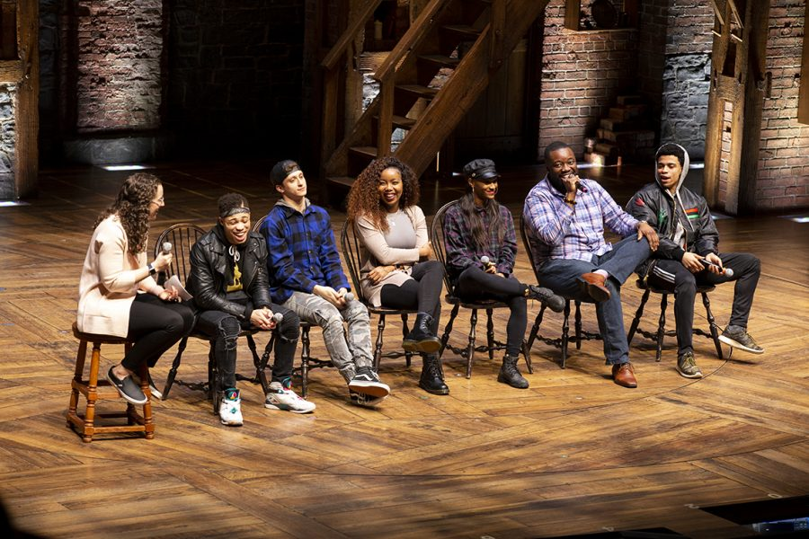 Q&A with cast members of Hamilton at CIBC Theatre, 18 W Monroe St, Mar. 13.