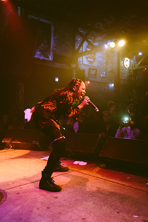 Atlanta+rapper+Kodie+Shane+brought+great+energy+and+love+to+her+fans+at+Reggies%2C+2105+S+State+St%2C+Mar.+13.+Her+North+America+and+Europe+tour+is+in+support+of+her+debut+album+titled+Young+Heartthrob.