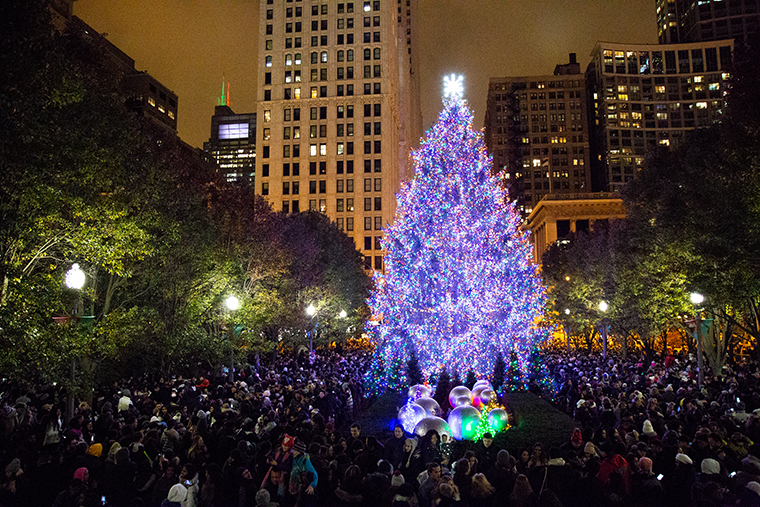 105th+Anual+Christmas+Tree+Lighting+at+Millienium+Park.