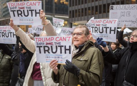 Mueller Report protestors in Federal Plaza