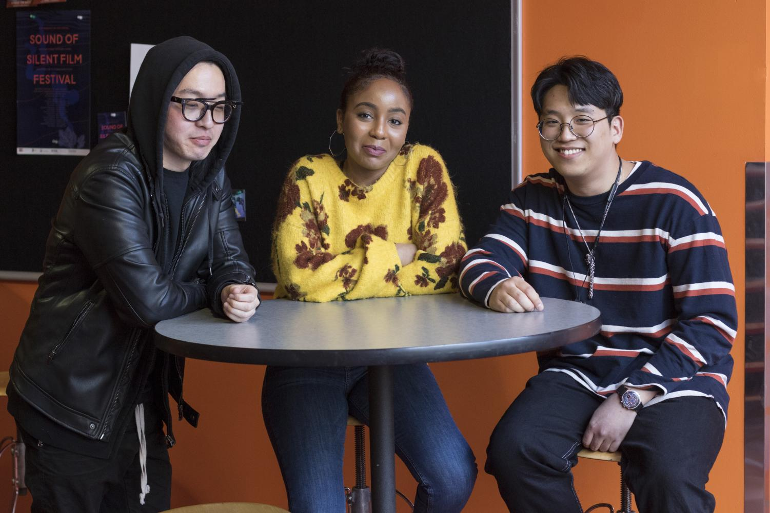Peter Jang, Donovan Thomas and Jeonghun Han are part of OFFLINE, which works to provide art students better networking opportunities.