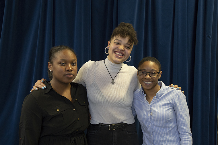 New SGA executive board members for the 2019-2020 school year, from left to right: Vice President of Communications Ashley Moore, President Kierah King and Vice President Jori Roberts.