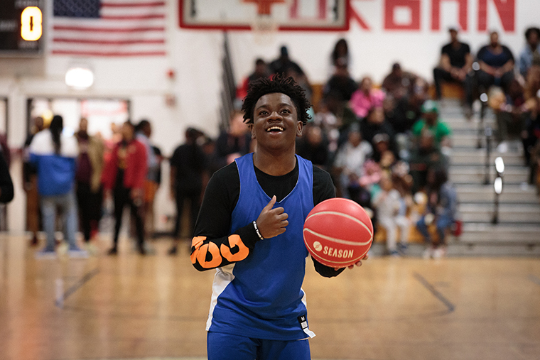 Founder+of+Project+sWISH+Chicago+McKinley+Nelson+shot+a+free+throw+at+HugsNoSlugs%27+first+annual+All-Star+Game+at+Englewood%27s+Urban+Prep+Academy%2C+6201+S.+Stewart+Ave.%2C+April+6.
