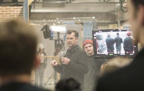 Film students work with Emmy-award winning cinematographer