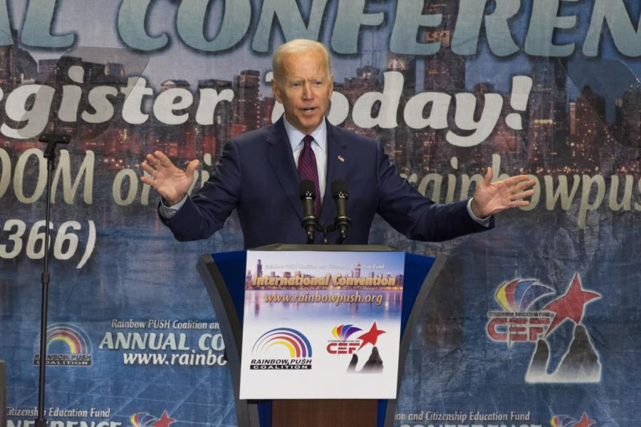 Former Vice President Joe Biden clarified his position on busing at a speech held at the Chicago Teacher's Union headquarters on Friday.