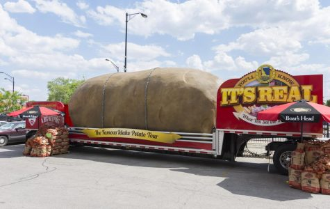 After nearly one year of construction, the Big Idaho Potato was completed, weighing in at 4 tons.