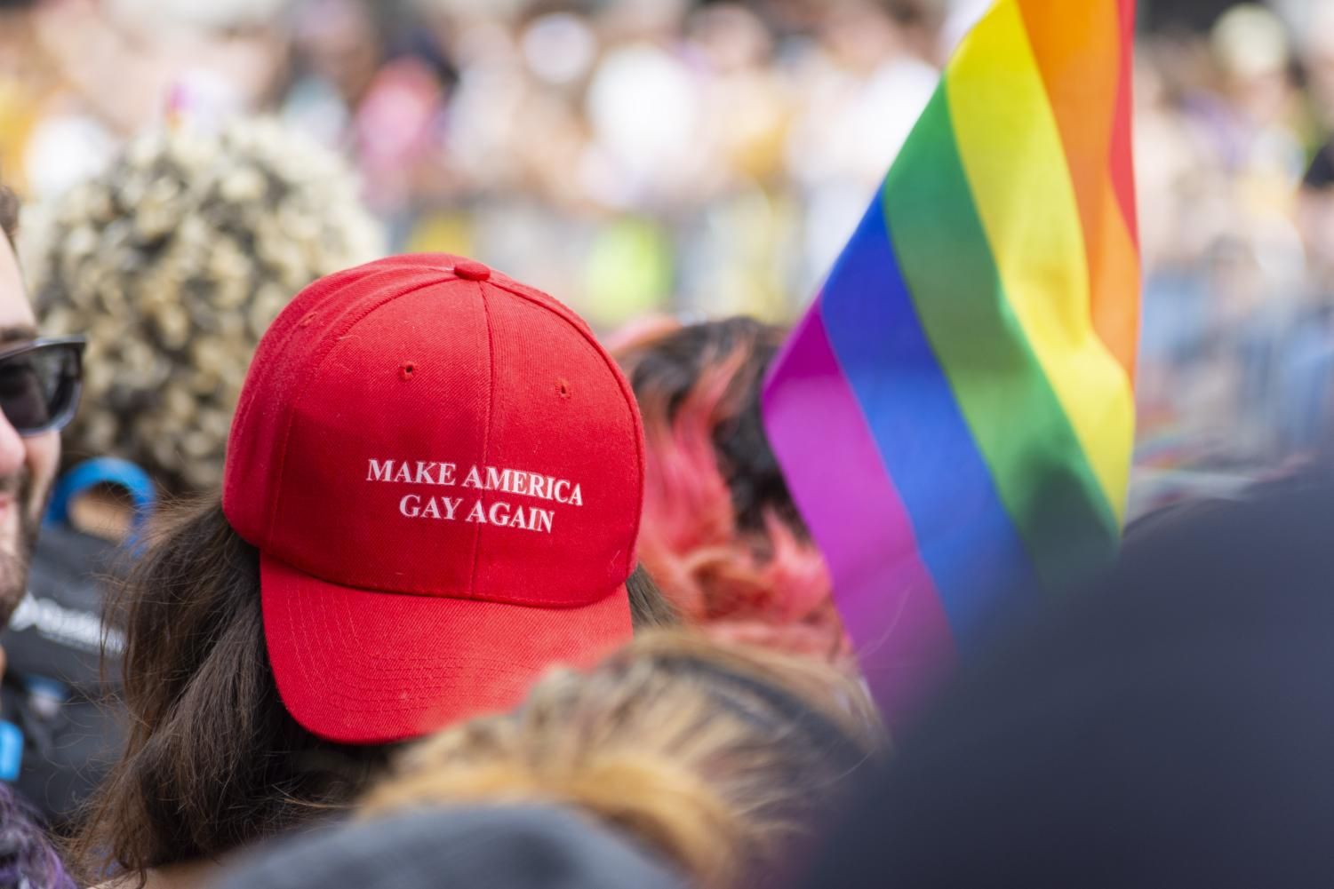 A+parade+attendee+wears+a+hat+based+on+President+Donald+Trump%27s+%22Make+America+Great+Again%22+slogan.+This+time%2C+the+message+is+different.