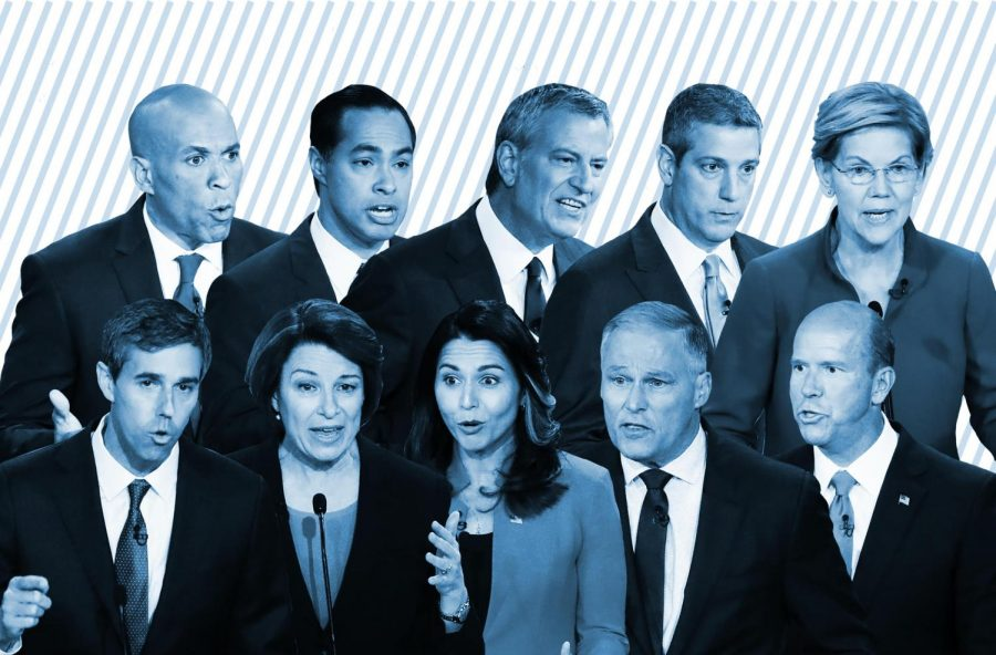 Ten Democratic presidential candidates went head-to-head onstage to debate their stances on issues ranging from immigration to impeachment in the first round of the Democratic primary debates Wednesday evening. Photos by Wilfredo Lee / AP