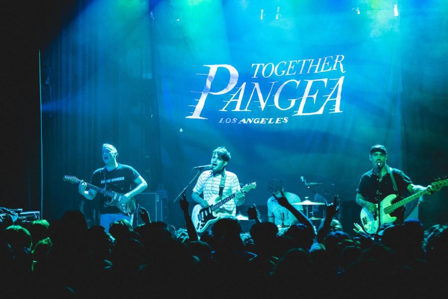 The punk band Together Pangea includes William Keegan, lead vocals and guitar; Danny Bengston, bass; Erik Jimenez, drums; Roland Cosio, guitar.