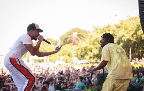 Smino brought out Chance the Rapper as a special guest during his set at Tito's Handmade Vodka stage to perform
