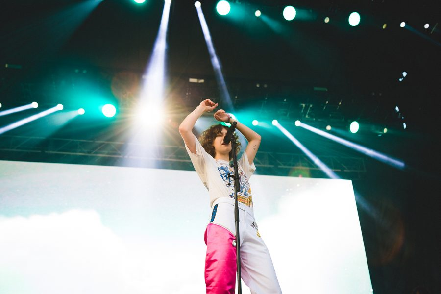 Pop artist King Princess performed at Lake Shore stage Aug. 1.