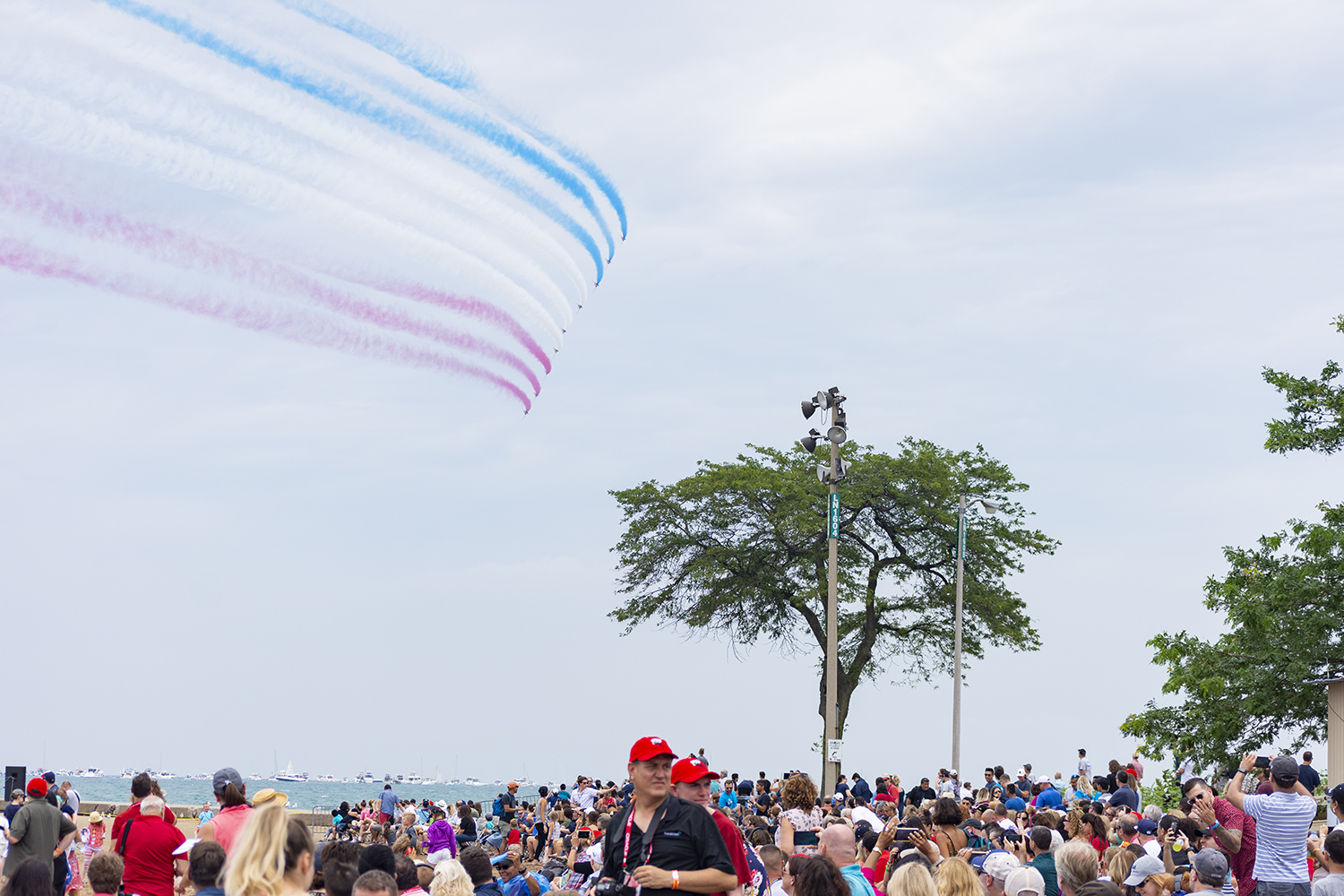 The+Royal+Air+Force+Aerobatic+Team%2C+known+as+the+Red+Arrows%2C+performed+their+first+demonstation+in+North+America+Aug.+17+at+the+61st+annual+Chicago+Air+and+Water+Show.