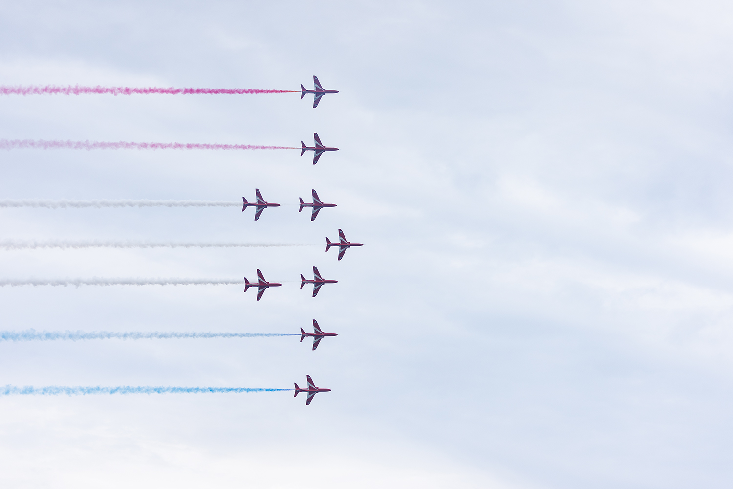 The+Royal+Air+Force+Aerobatic+Team%2C+known+as+the+Red+Arrows%2C+performed+their+first+demonstation+in+North+America+Aug.+17.