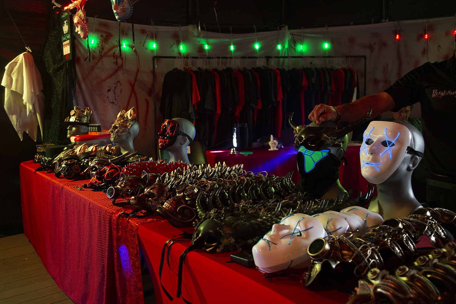 Horror+themed+masks+were+sold+at+the+Paranormal+Cirque.