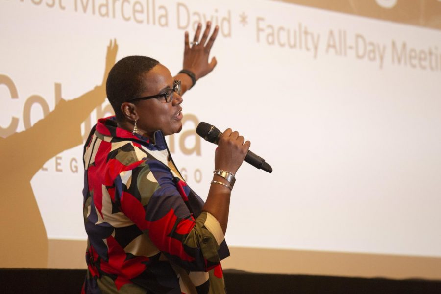 Provost Marcella David 'saying all the right things' in first collegewide address
