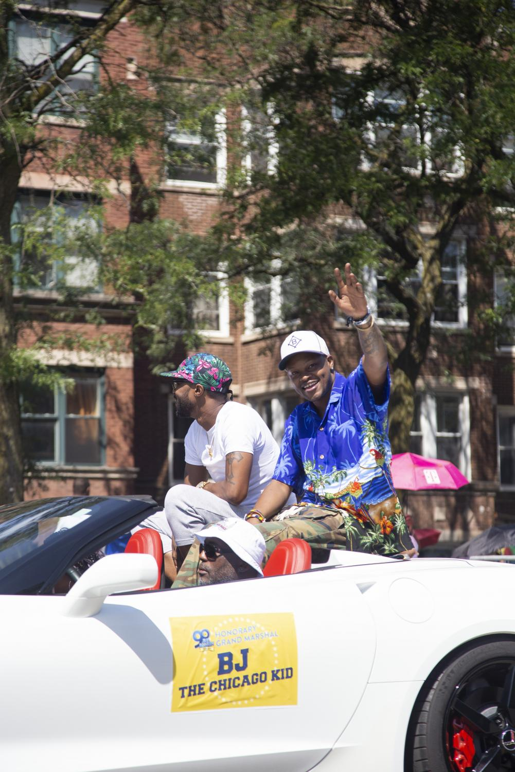 The+rapper+BJ+The+Chicago+Kid+at+the+Bud+Billiken+Parade.