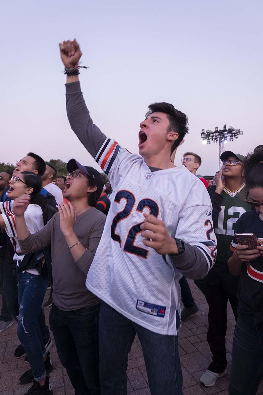 Rudy+Romo%2C+a+student+at+the+University+of+Illinois+at+Urbana-Champaign%2C+celebrates+the+NFL+Kickoff+Experience.