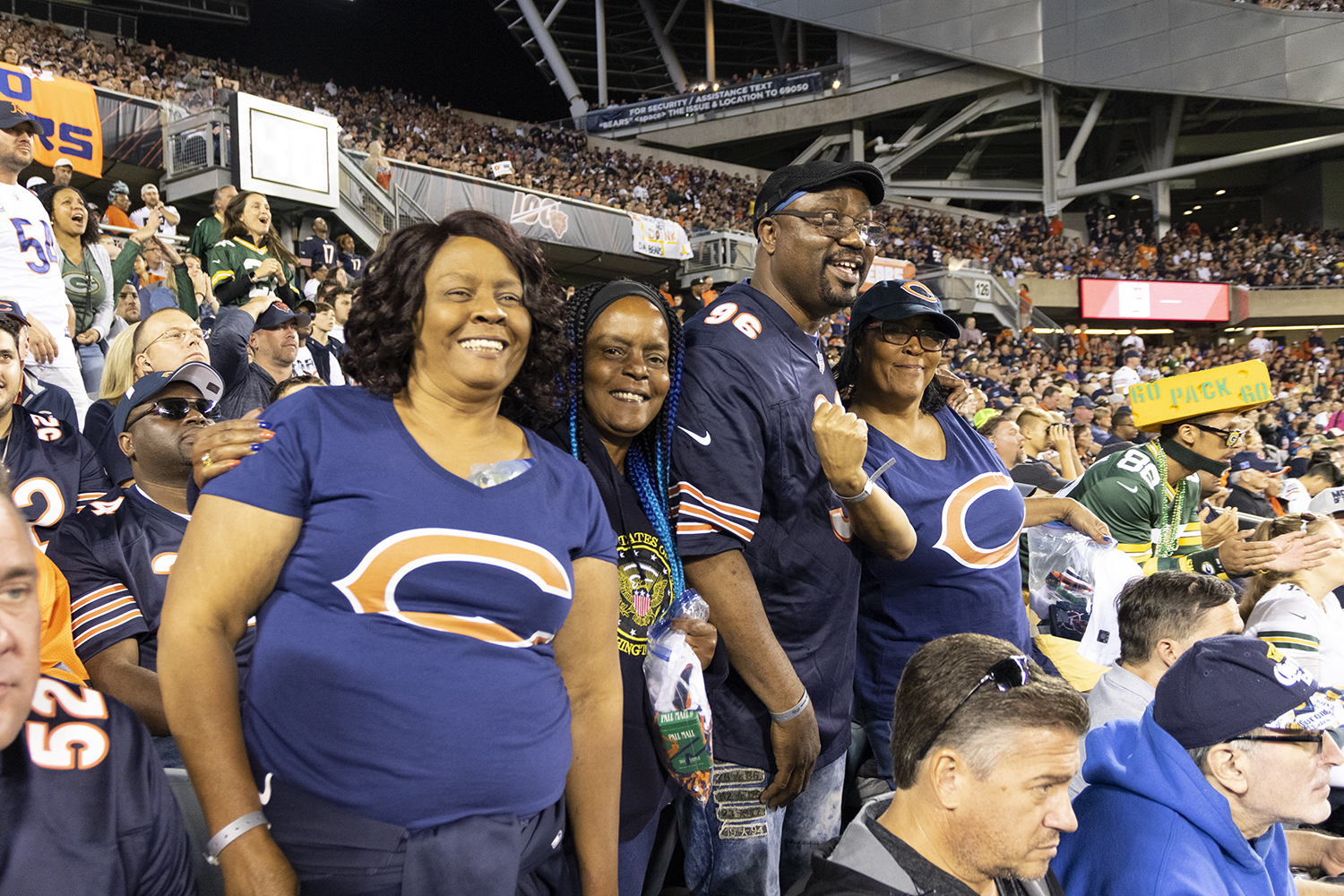 The+family+of+Akiem+Hicks+takes+in+the+first+Bears+game+of+the+season+Sept.+5+at+Soldier+Field.