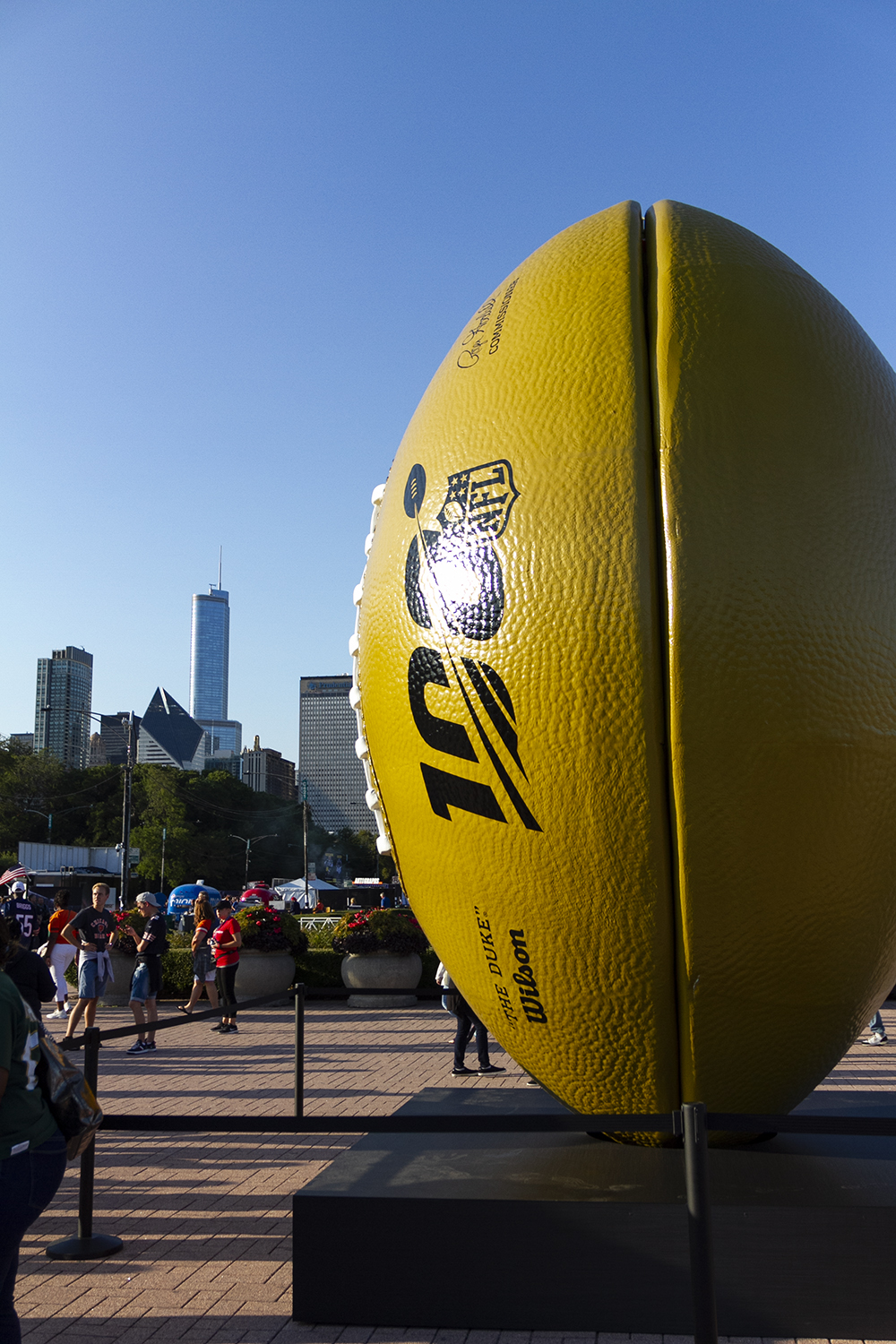 The+NFL+Kickoff+Experience+in+Grant+Park+celebrated+the+100th+NFL+season+with+celebrity+appearances+and+activities+for+fans.