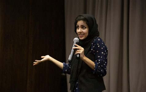 Hoda Katebi, a famous Iranian fashion blogger, talks to Columbia students about Eastern fashion influences and rejecting cultural limits in style, held at 618 S. Michigan Ave. on Sept. 12.