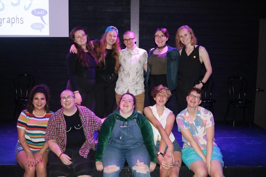 """Cast and production team of """"The P*ssy Paragraphs"""" celebrated raising more than $800 from their fundraiser show in July and over $700 from their GoFundMe."""