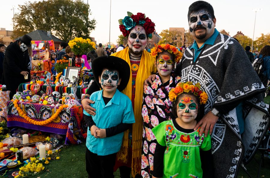 Evelyn Duran Gonzalez, 45, attends this event every year with her family, as a way of honoring her Mexican culture and connecting with dead loved ones.