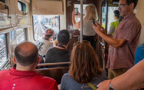 Vintage CTA trains allow passengers to take a ride back in time