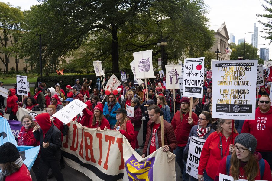 The Chicago Teachers Union went on strike Oct. 17, demanding more resources for Chicago Public Schools and paid prep time for teachers.