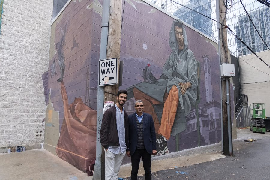 The mural is the newest addition to the Wabash Arts Corridor and sits on the back wall of The Dance Center, 1306 S. Michigan Ave.