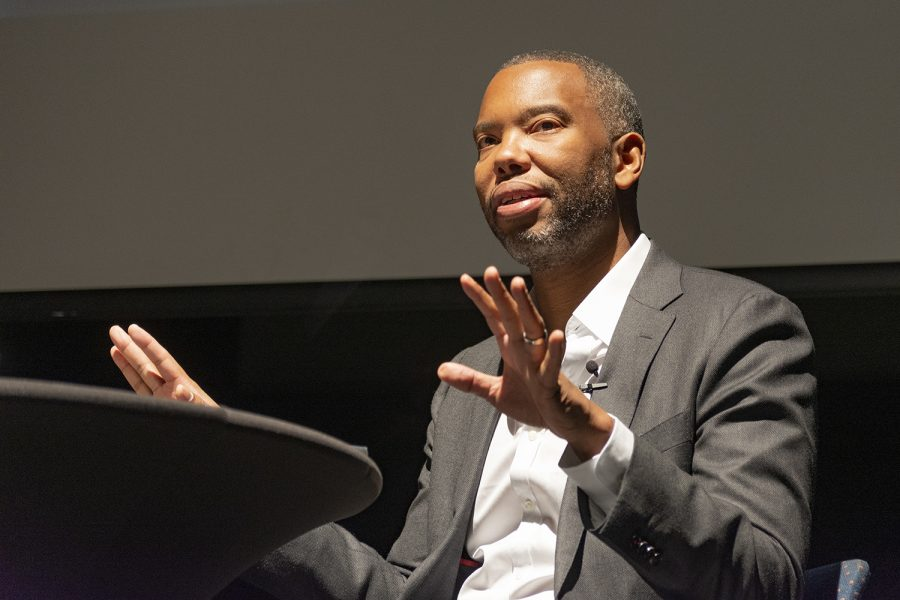 National Book Award winner Ta-Nehisi Coates speaks about his first novel The Water Dancer at the DuSable Museum of African American History, 740 E. 56th Pl., Oct. 3.