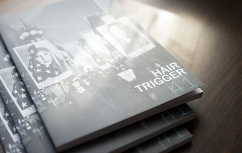 Hair Trigger, a student-edited anthology of short fiction and nonfiction student works first went online in 2016 with the introduction of Hair Trigger 2.0, a digital companion to the print publication.