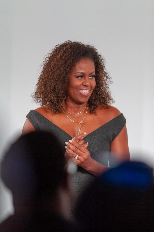 Former First Lady Michelle Obama joined the former president, highlighting the need for community in a city like Chicago.