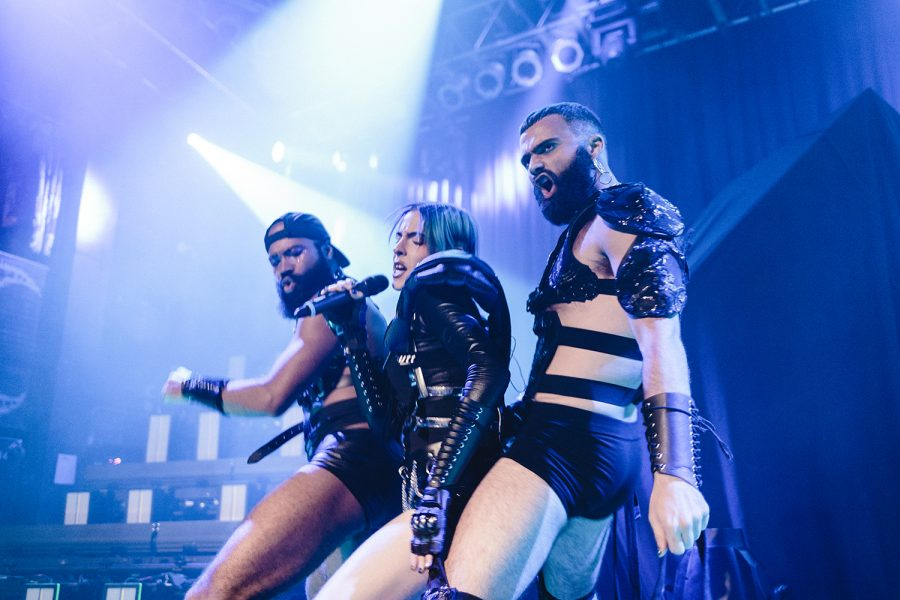 """Dorian Electra performed songs from their album """"Flamboyant"""" with dancers onstage."""