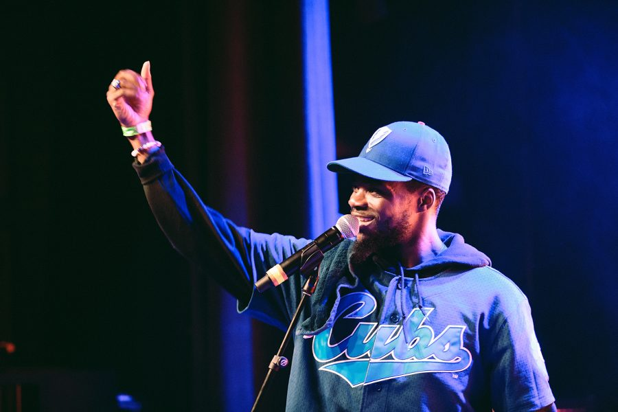 Femdot., a 24-year-old rapper from Chicago, performed songs from his latest album 94 Camry Music.