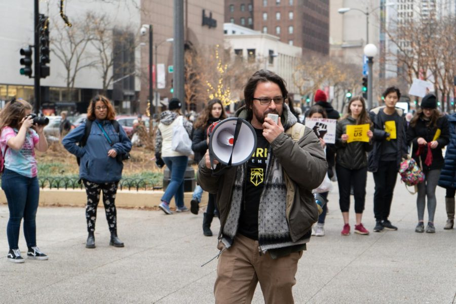 """""""We are here to say that our people are not for sale. We are here to say that our future is not for sale. Our lives are not for sale,"""" said Victor Franklin, a Sunrise Movement organizer."""