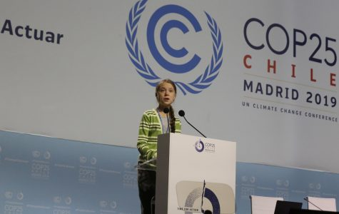 Greta Thunberg, a Swedish climate activist, addresses world leaders at the COP25 summit in Madrid, Wednesday, Dec. 11.