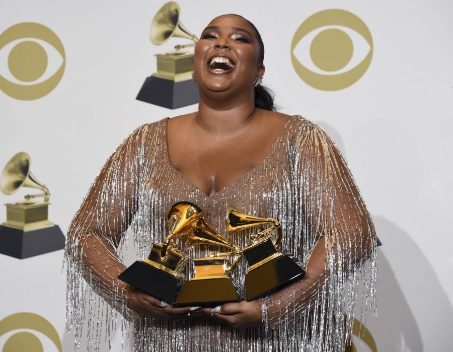 Musician Lizzo won three Grammy awards Sunday, Jan. 26,