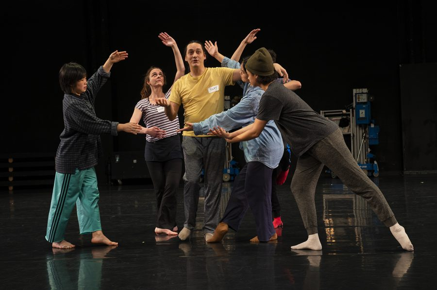 The Lucky Plush ensemble used movement and comedy as storytelling elements in their work-in-progress piece presented Friday, Jan. 24.