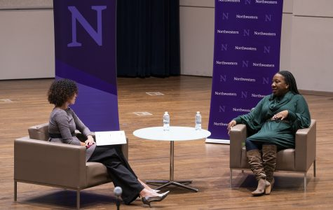MeToo founder Tarana Burke speaks during a Q&A session at Northwestern's MLK Dream Week event Monday, Jan. 27.