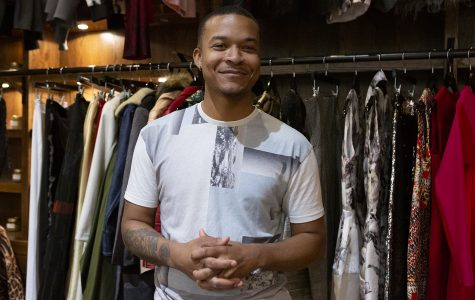 Delvin McCray's brick-and-mortar boutique for his second fashion line, REDD by Delvin McCray, inhabits the first floor of Block 37, 108 N. State St.