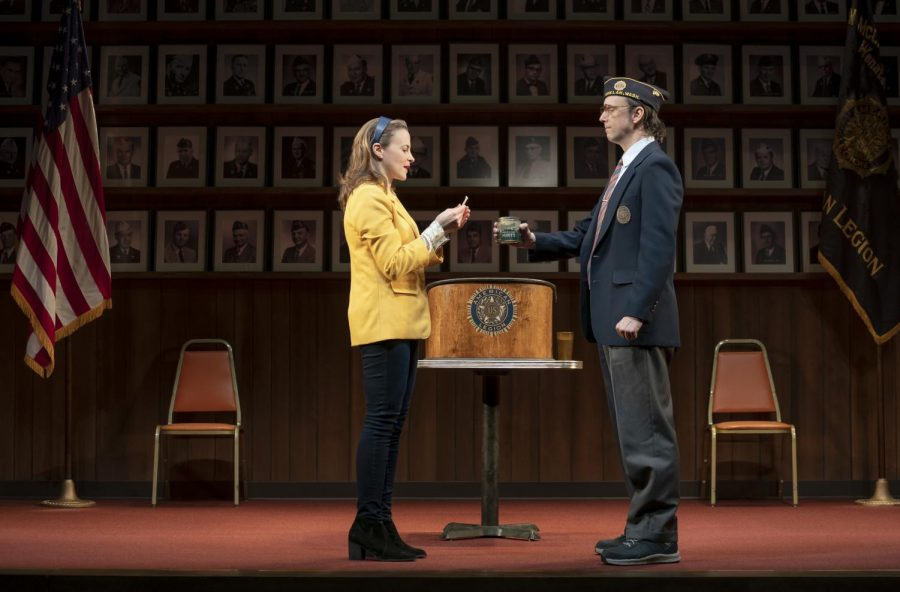 (From left) Maria Dizzia and Mike Iverson star in What the Constitution Means to Me, coming to Chicago March 4.